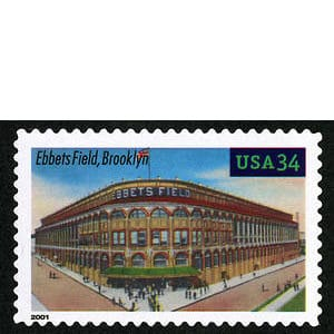 Ebbets Field, Legendary Playing Fields, U.S. Postage Stamp – 34¢