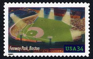Fenway Park, Legendary Playing Fields, U.S. Postage Stamp – 34¢