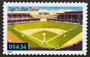Tiger Stadium, Legendary Playing Field, U.S. Postage Stamp – 34¢