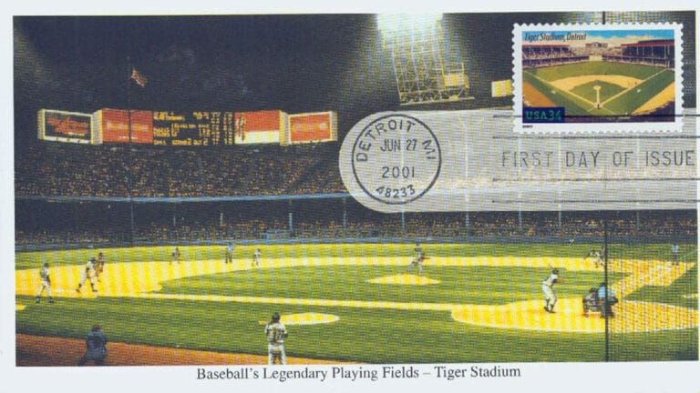 Tiger Stadium, Legendary Playing Fields, U.S. Postage Stamp FDC