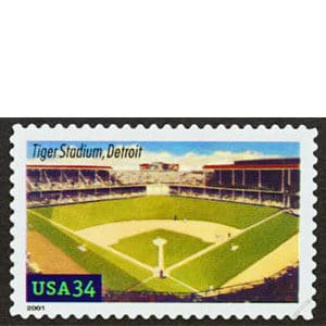 Tiger Stadium, Legendary Playing Fields, U.S. Postage Stamp – 34¢