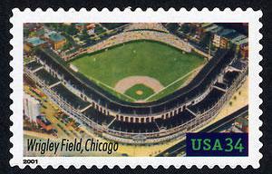 Wrigley Field, Legendary Playing Fields, U.S. Postage Stamp – 34¢