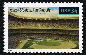 Yankee Stadium, Legendary Playing Fields, U.S. Postage Stamp – 34¢