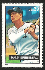 Hank Greenberg, Baseball Sluggers, U.S. Postage Stamp – 39¢