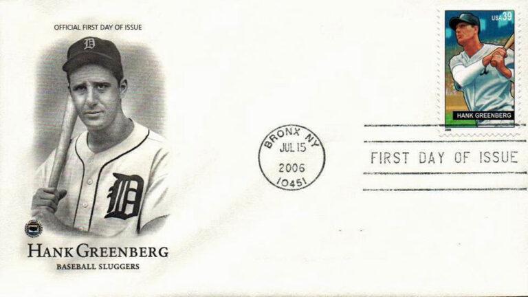 Hank Greenberg, Baseball Sluggers, U.S. Postage Stamp FDC