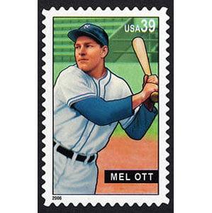 Mel Ott, Baseball Sluggers, U.S. Postage Stamp – 39¢