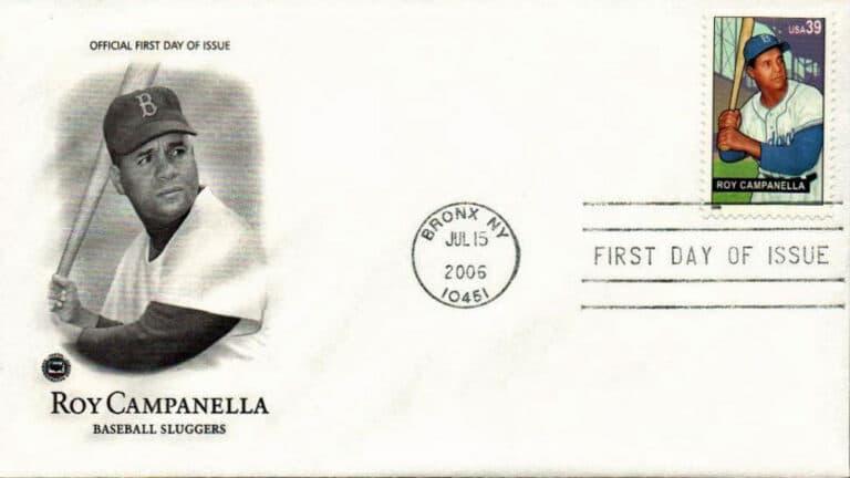 Roy Campanella, Baseball Sluggers, U.S. Postage Stamp FDC