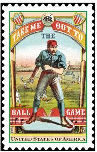 Take Me Out To The Ballgame, U.S. Postage Stamp – 42¢
