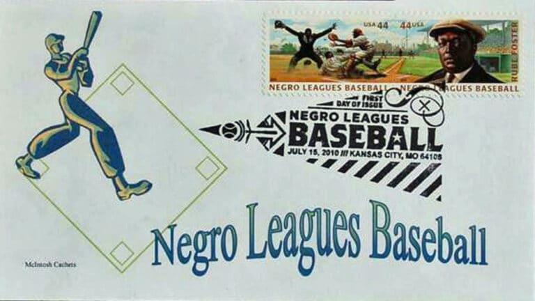 Negro Leagues Baseball, U.S. Postage Stamp FDC