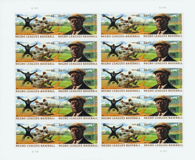 Negro Leagues Baseball, U.S. Postage Stamps Sheet