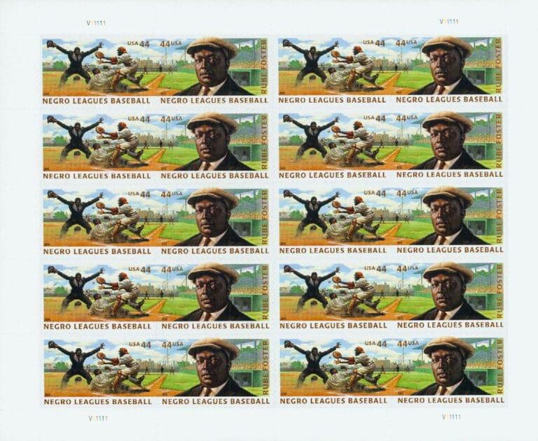 Negro Leagues Baseball, U.S. Postage Stamps Sheet
