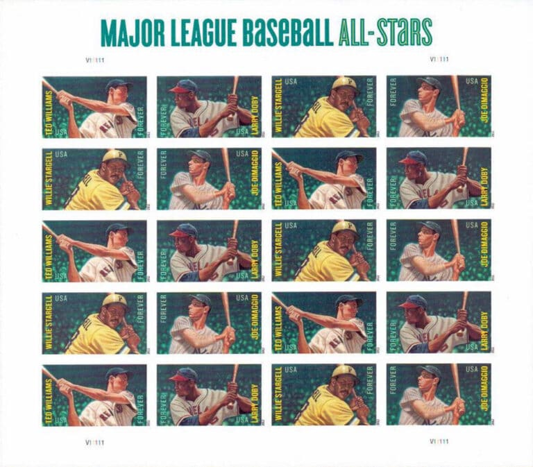 2012 Major League Baseball All-Stars, U.S. Postage Stamps Sheet