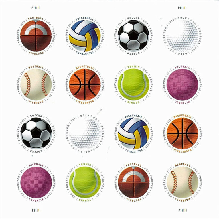 Have a Ball, U.S. Postage Stamps Sheet