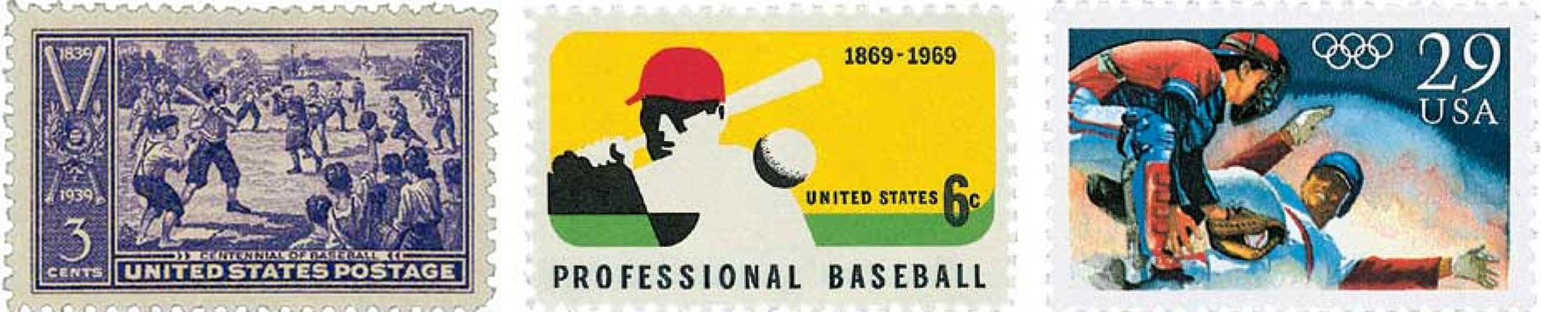 Baseball U.S. Postage Stamps - header
