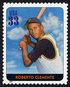Roberto Clemente, Legends of Baseball U.S. Postage Stamp – 33¢