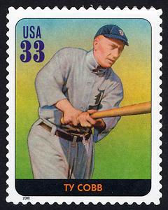 Ty Cobb, Legends of Baseball U.S. Postage Stamp – 33¢