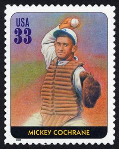 Mickey Cochrane, Legends of Baseball U.S. Postage Stamp – 33¢