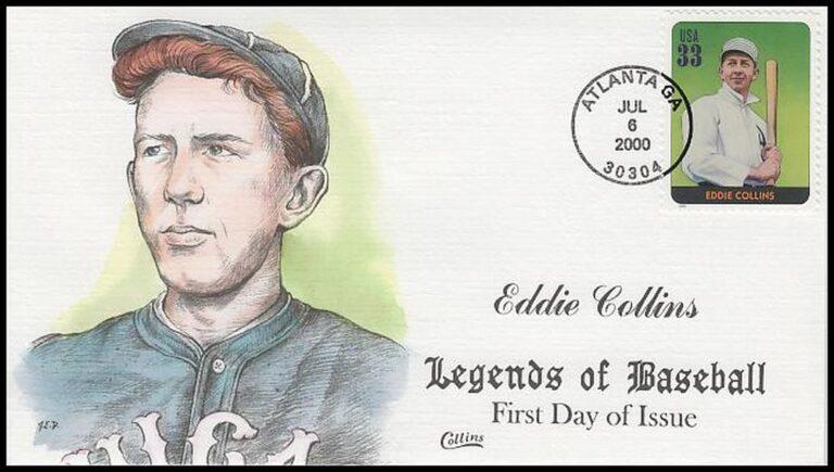 Eddie Collins, Legends of Baseball FDC