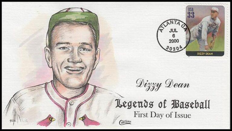Dizzy Dean, Legends of Baseball FDC