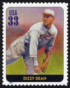 Dizzy Dean, Legends of Baseball U.S. Postage Stamp – 33¢