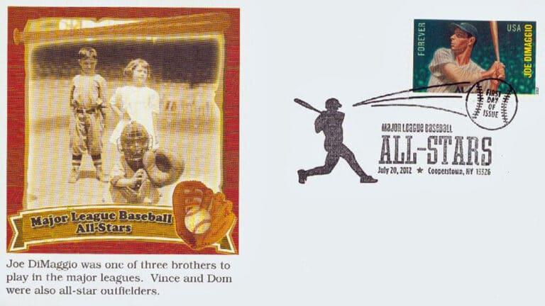 Joe Dimaggio, U.S. Postage Stamp FDC
