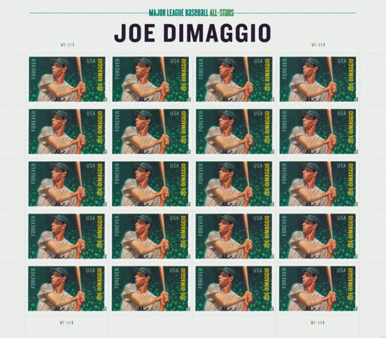 Joe Dimaggio, U.S. Postage Stamp Sheet