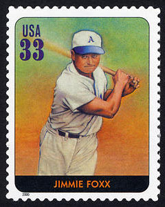Jimmie Foxx, Legends of Baseball U.S. Postage Stamp – 33¢