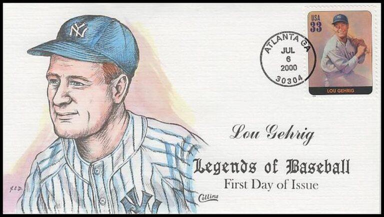Lou Gehrig, Legends of Baseball FDC
