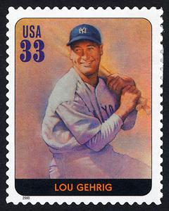 Lou Gehrig, Legends of Baseball U.S. Postage Stamp – 33¢