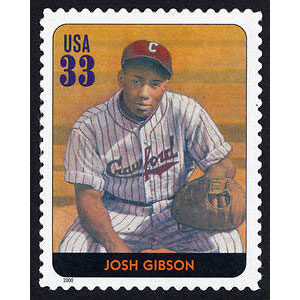 Josh Gibson, Legends of Baseball U.S. Postage Stamp – 33¢