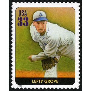 Lefty Grove, Legends of Baseball U.S. Postage Stamp – 33¢