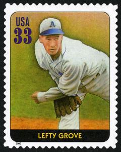Lefty Grove, Legends of Baseball U.S. Postage Stamp – 33¢