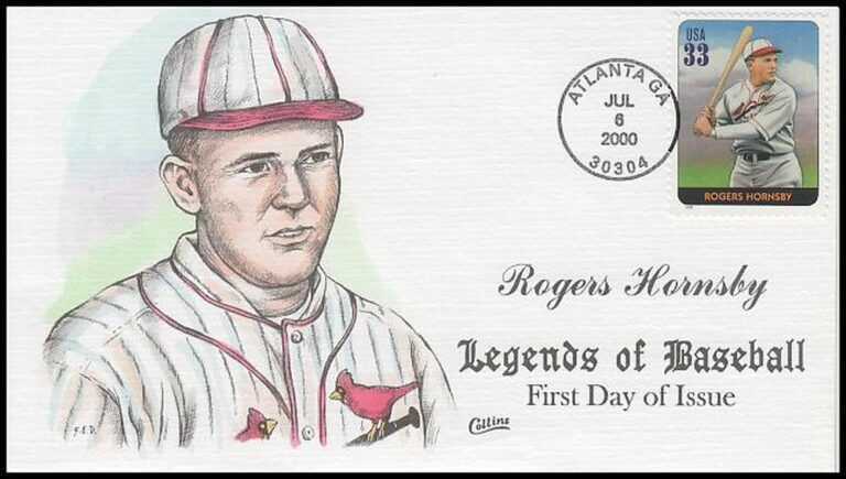 Rogers Hornsby, Legends of Baseball FDC