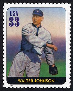 Walter Johnson, Legends of Baseball U.S. Postage Stamp – 33¢