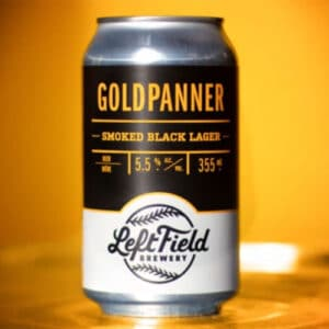 Goldpanner Smoked Black Lager by Left Field Brewery