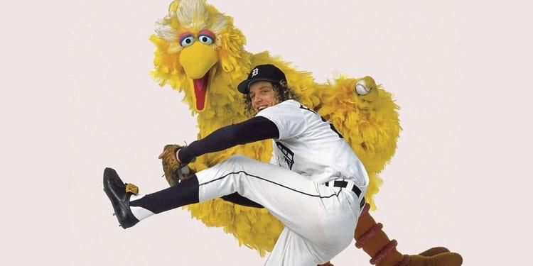 "Mark ""The Bird"" Fidrych with Big Bird"