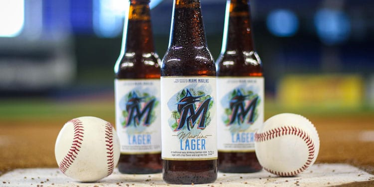 Marlins Lager at Home Plate
