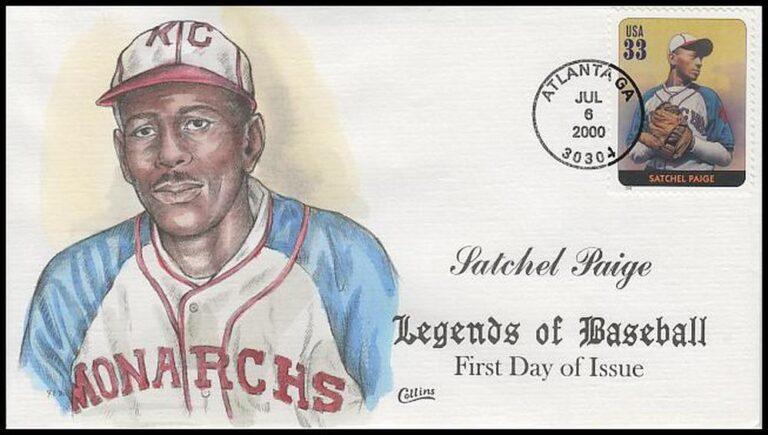 Satchel Paige, Legends of Baseball FDC