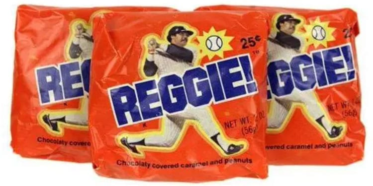 Reggie Bar, from Standard Brands, featuring Reggie Jackson