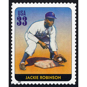 Jackie Robinson, Legends of Baseball U.S. Postage Stamp – 33¢