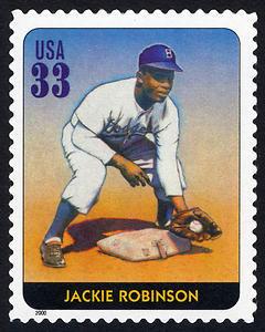 Jackie Robinson, Legends of Baseball U.S. Postage Stamp – 33¢
