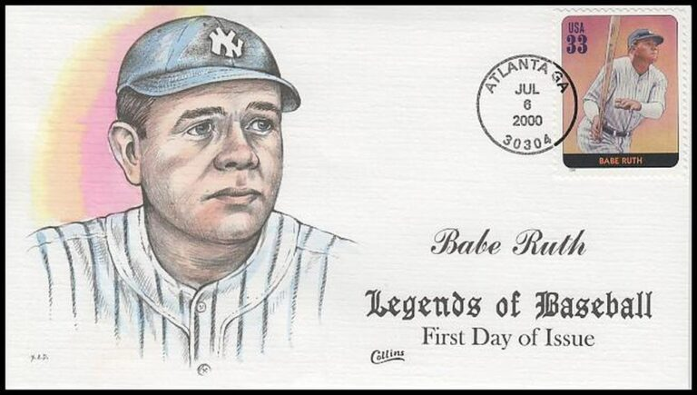 Babe Ruth, Legends of Baseball FDC