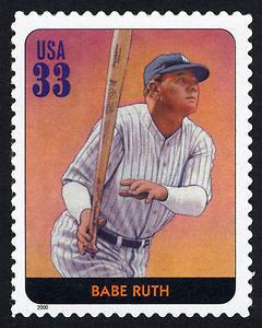 Babe Ruth, Legends of Baseball U.S. Postage Stamp – 33¢