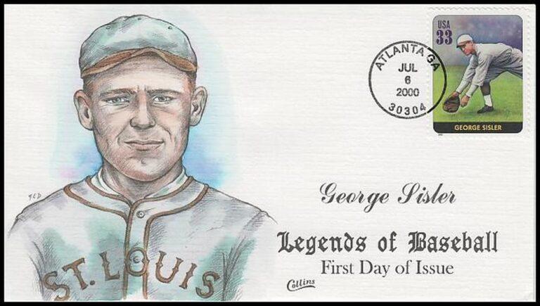 George Sisler, Legends of Baseball FDC