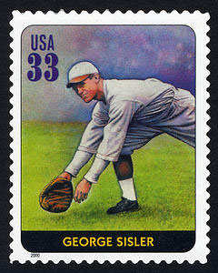 George Sisler, Legends of Baseball U.S. Postage Stamp – 33¢