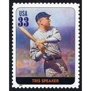 Tris Speaker, Legends of Baseball U.S. Postage Stamp – 33¢
