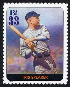 Tris Speaker, Legends of Baseball U.S. Postage Stamp – 33¢