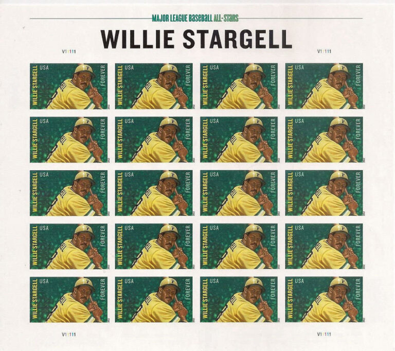 Willie Stargell, U.S. Postage Stamp Sheet