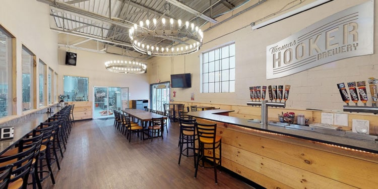 Inside the Thomas Hooker Brewery Taproom