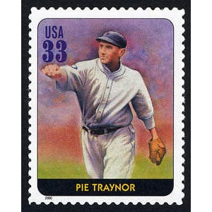 Pie Traynor, Legends of Baseball U.S. Postage Stamp – 33¢